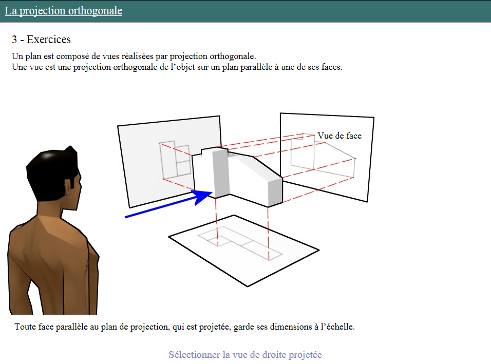 Contenu Elearning Methode De Projection Orthogonale Open Elearning