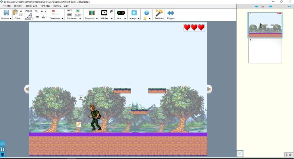 Edition d'un jeu de plateforme 2D